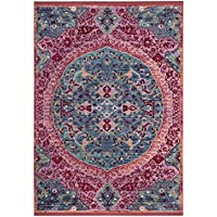 Safavieh Sutton Collection SUT401B Turquoise and Fuchsia Pink Area Rug (3 x 5)