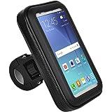 Suporte de Guidão 22 a 35mm para Smartphone de até 5,5 Pol. com Rotação 360 POL e Touch Screen Preto Atrio - BI095