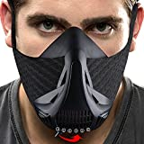 HARDK Training Workout Mask - for Running Biking Training and Fitness Achieve High Altitude Elevation Effects with 6 Level Air Flow Regulator
