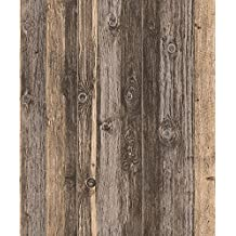 Blooming Wall 910707 Faux Multicolor Vintage Barnwood Wood Plank Wood Panel Wallpaper Wall Mural for Livingroom Bedroom Kitchen, 20.8 In32.8 Ft=57 Sq Ft/Roll, Red Multi