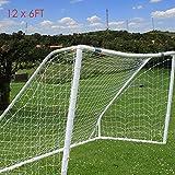 Sloth Baby 12 x 6 ft Football Soccer Goal Post Net for Kids Junior Backyard Practice Training (Net Only)