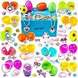 WATINC 68Pcs Stuffed Easter Eggs with Princess