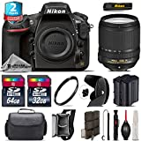 Holiday Saving Bundle for D810 DSLR Camera + 18-140mm VR Lens + 64GB Class 10 Memory Card + 2yr Extended Warranty + 32GB Class 10 Memory + Backup Battery + Case + Tulip Lens - International Version