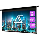 Akia Screens 125 inch Motorized Electric Remote Controlled Drop Down Projector Screen 16:9 8K 4K HD 3D Retractable Ceiling Wa