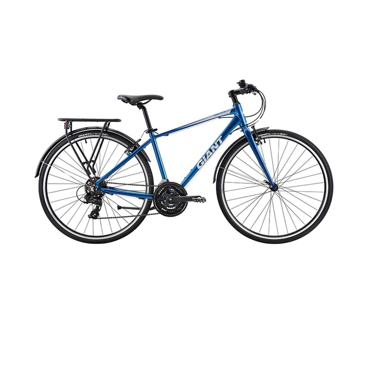 WENPINHUI 都市余暇の通勤用自転車、大人のスピードロードバイク、フラットハンドルの自転車、可変速自転車 - S 青