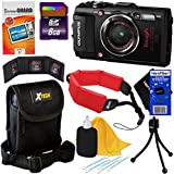 Olympus Stylus Tough TG-4 Waterproof, Shockproof , Freezeproof & Crushproof 16 MP Wi-Fi Digital Camera with GPS & HD Video, Black (International Version) + 8pc 8GB Acc Kit w/ HeroFiber Cleaning Cloth