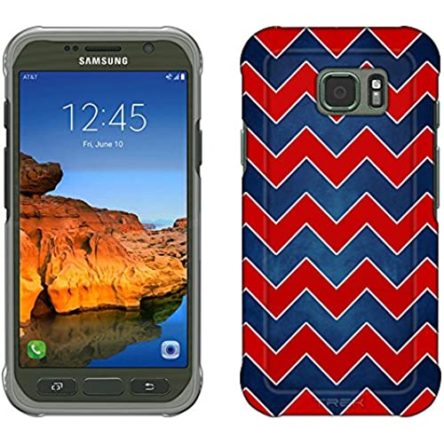 Samsung Galaxy S7 Active Case, Snap On Cover by Trek Patriotic Chevrons Slim Case Sales