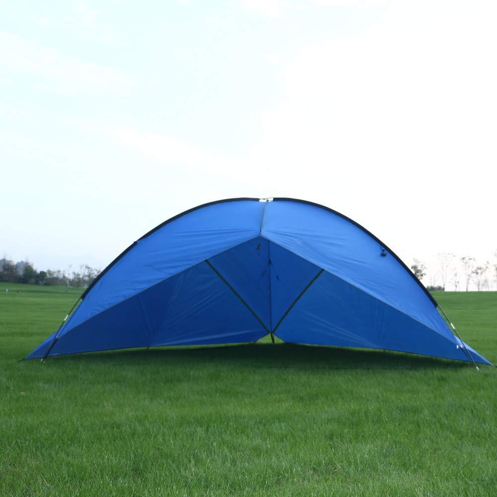 LSWGG Outdoor-Campingzelt Mehrpersonen-Familien-Strandmarkise Pergola mit Zwei Schlafzimmern und mehr Platz(5-8)