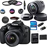 Canon EOS 1500D/Rebel T7 DSLR Camera with EF-S 18-55mm f/3.5-5.6 IS II Lens - Deal-Expo Accessories Bundle
