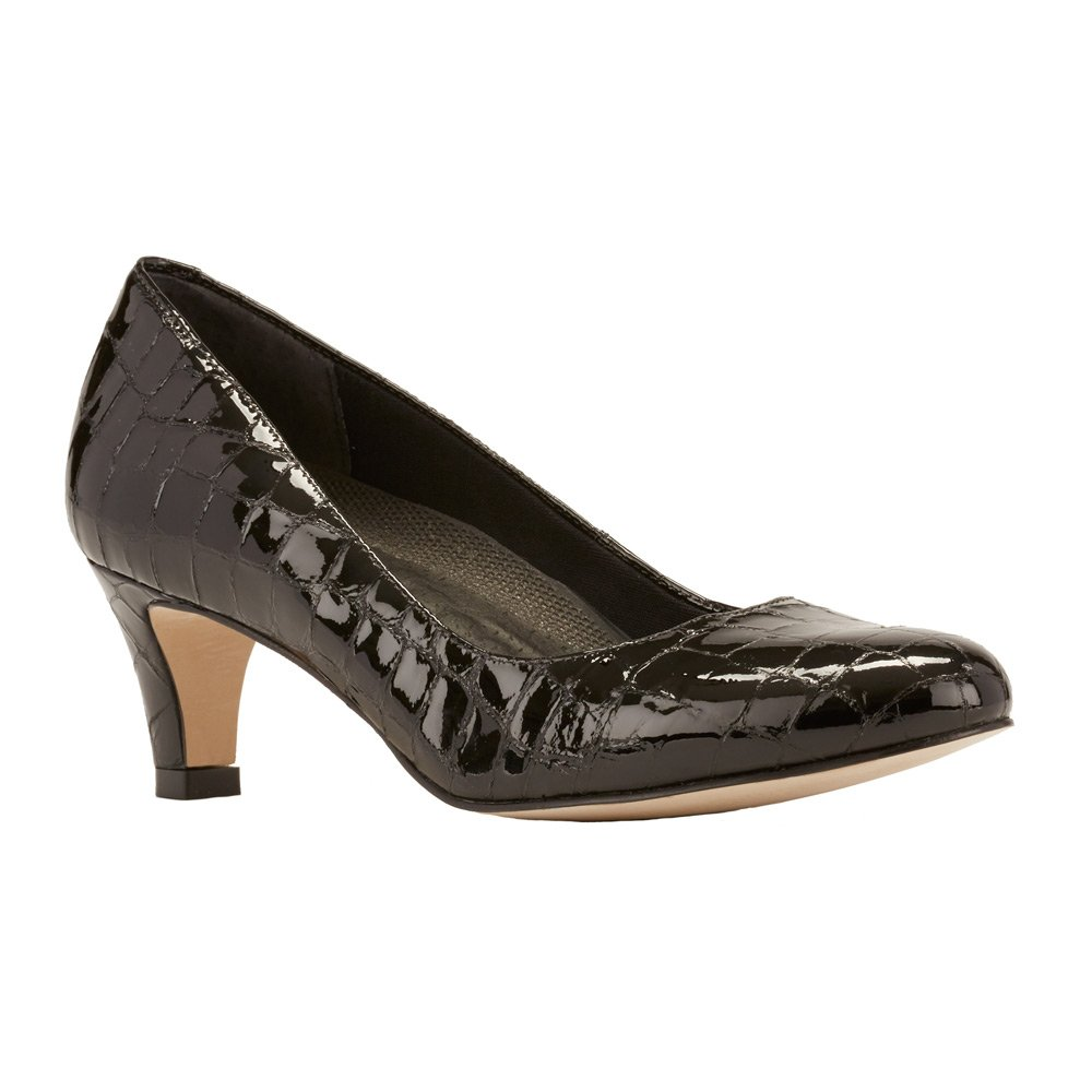 Walking Cradles Women's Joy Dress Pump B0016PUMHO 7 N (A)|Black Patent Crocco