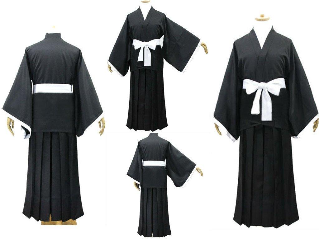 Sunkee Japanische Anime Bleach Cosplay Kimono Mantel, Größe L :(Größe 162-170cm,Gewicht 55-60kg)