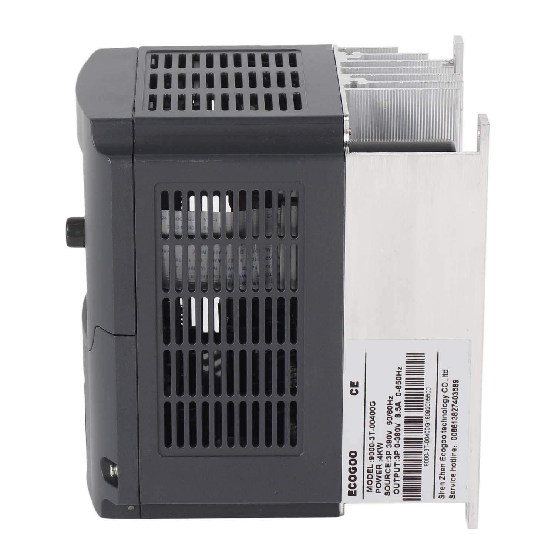 4KW 380V VFD Variador de frecuencia Variable Entrada 3 Fase Salida 3 Fase Control PID Convertidor de frecuencia Motor del husillo (Color: Negro)