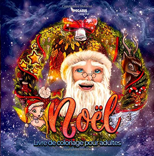 Noël: Livre de Coloriage pour adultes (French Edition): Stelf
