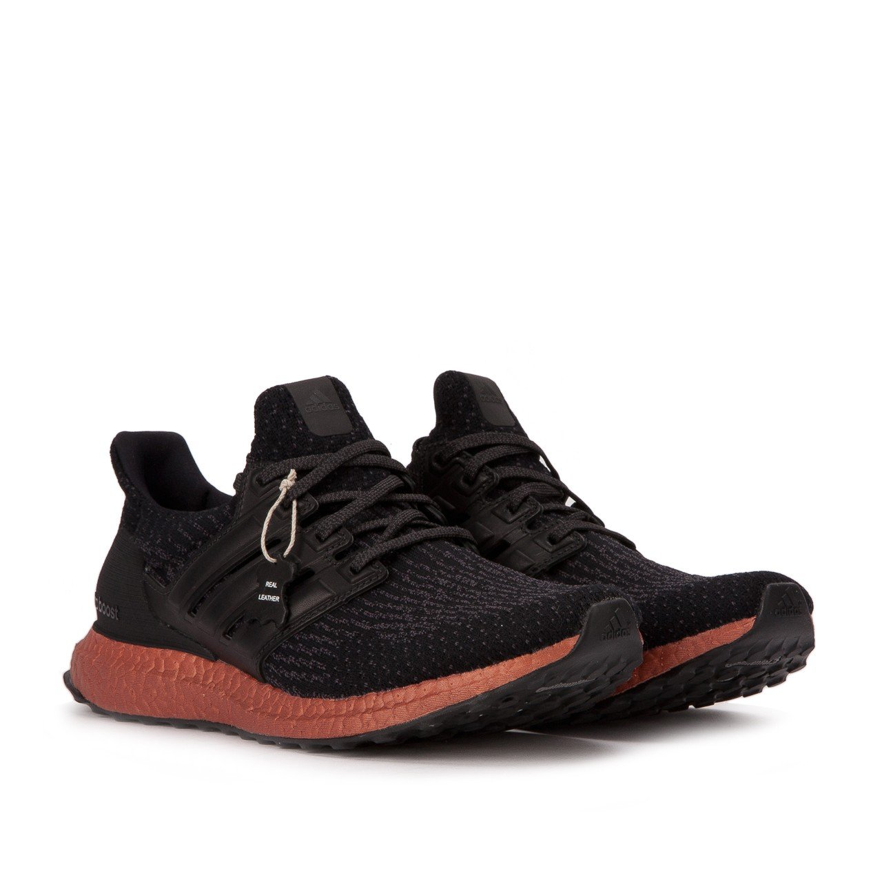 adidas Performance Men's Ultra Boost M Running Shoe B01N0T61EN 13 D(M) US|Black/Black/Tech Rust