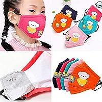 5Pack Bears Cotton Dustproof for Children【3 Layers】with Adjustable Metal Nose Bridge...