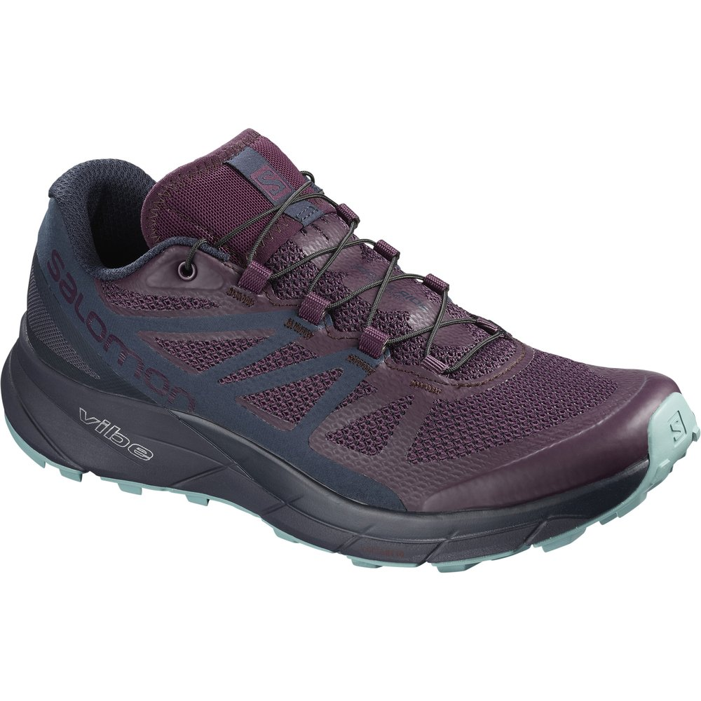 Salomon Sense Ride Running Shoe - Women's B078SY355J 5 M US|Potent Purple/Graphite/Navy Blazer