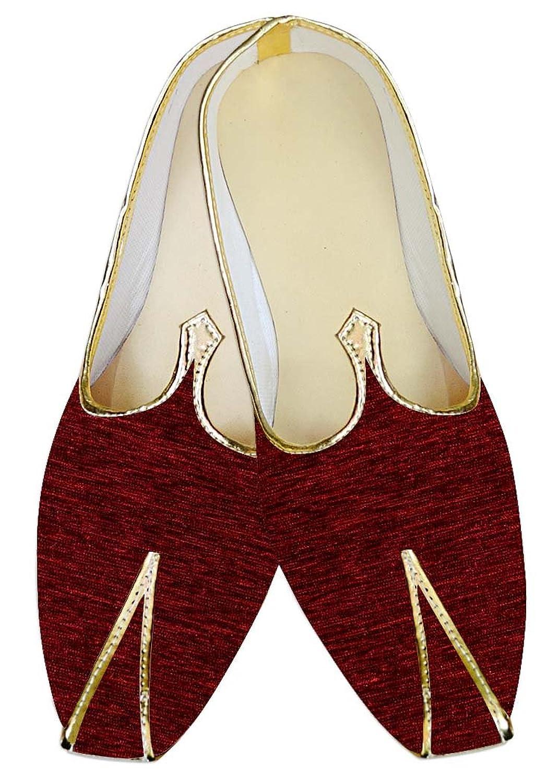 INMONARCH Granate Hombres Boda Zapatos Atractiva MJ014130 44.5 EU