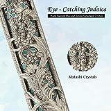 Matashi Hand Painted Enamel Mezuzah Embellished