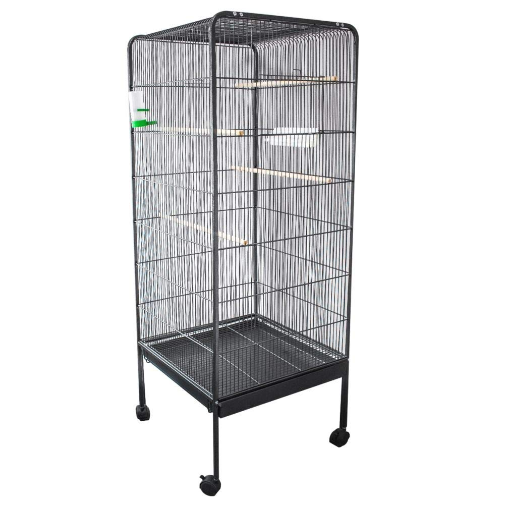 Columbia Bird Cage Pet's House METAL BIRD CAGE WITH WHEELS AVIARY PERCH ENCLOSURE BUDGIE CANARY COCKATIEL STAND