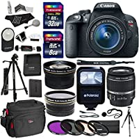 Canon EOS Rebel T5i Digital SLR Camera Body Bundle with EF-S 18-55mm IS STM Lens, Transcend 32GB, Transcend 8GB, Tripods, Polaroid Filter Kit, Ritz Camera Bag, Polaroid Flash and Accessory Kit Key Pieces Review Image
