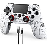 FaRuiX Game Controller for Ps-4 Remote, Wireless Controller for Ps-4/Pro/Slim/PC with Dual Vibration | 6-Axis Gyro Sensor | B