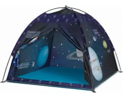 Space World Play Tent-Kids Galaxy Dome Tent Playhouse for Boys and Girls Imaginative Play-Astronaut Space for Kids Indoor and