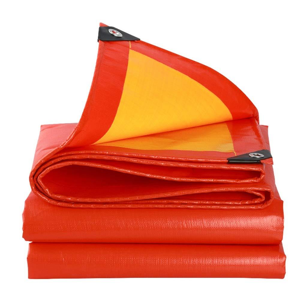 QX pengbu IAIZI Starke Plane, regendicht, wasserdicht und Sonne Besteändig, geeignet für die Abdeckung von LKWs, Schiffe (Farbe   Orange+Gelb, größe   5X 6m)