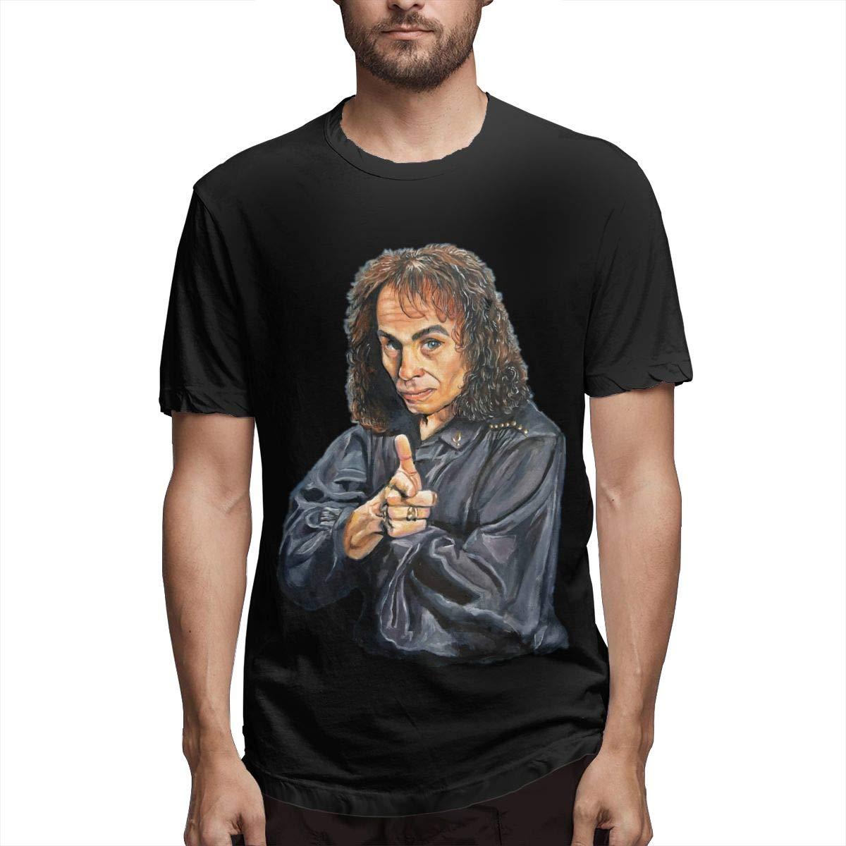 Lihehen Man Ronnie James Dio Fashion Leisure Round Neck T Shirt