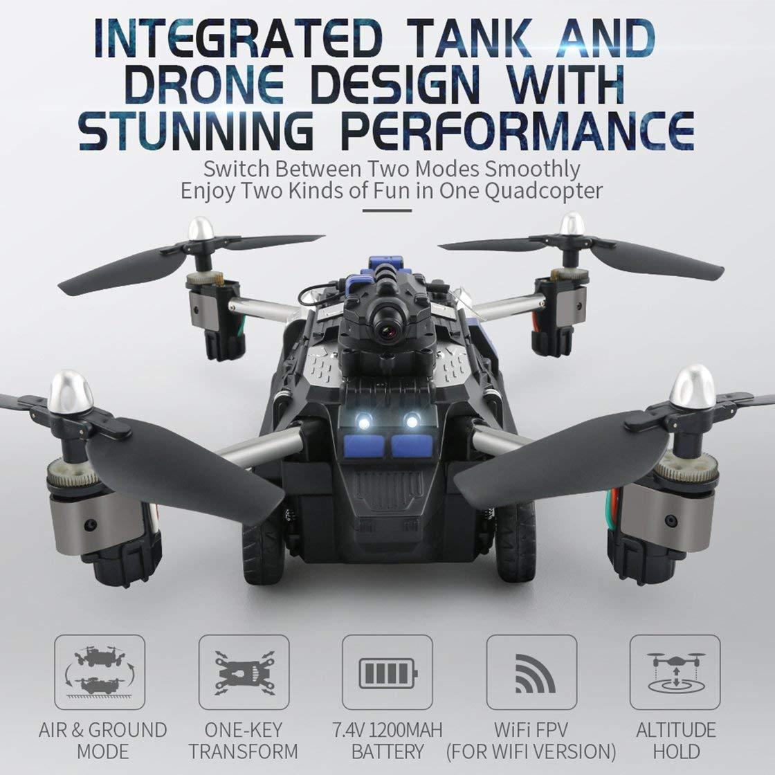 barato y de alta calidad Laurelmartina JJR / C C C H40WH Selfie FPV RC 2.4G RC Quadcopter Tank Car Drone Aviones con 720 P WiFi HD Cámara Altitud Mantener 360 ° Flips  comprar descuentos