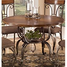 Signature Design by Ashley D313-15B Plentywood Collection Dining Room Table Base, Brown