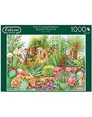 Falcon de luxe The Flower Show: Desert Plants 1000 stuks 1000 stukjes puzzel puzzel puzzel bloeipuzzel bloem kinderen en volwassenen (meisjes) 12 jaar (binnen)
