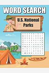 U.S. National Parks Word Search: Word Find Puzzle Book Paperback