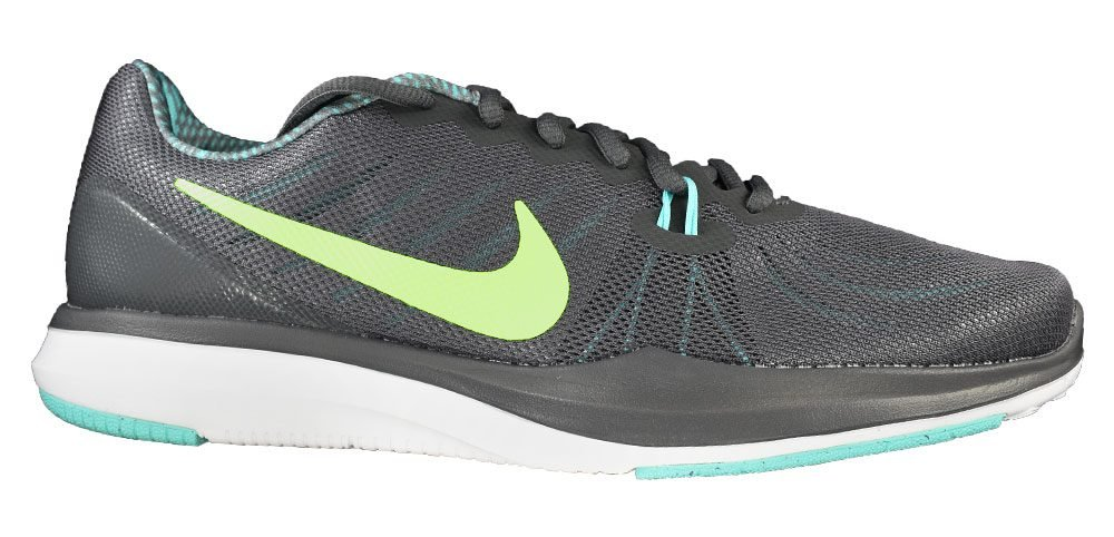 NIKE Women's in-Season 7 Cross Trainer B01N9O1NXN 6 B(M) US|Dark Grey/Barely Volt/Aurora Green