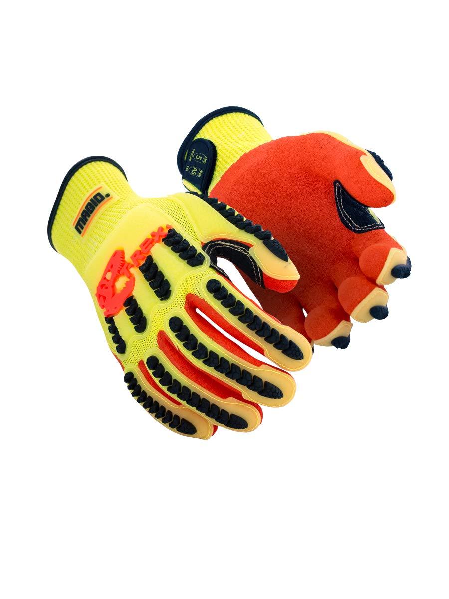 Magid Glove & Safety TRX540-XXXXL Magid T-REX TRX540 Impact Gloves - Cut Level A5, 8, Hi/Vis Yellow, 4XL (1 Pair)