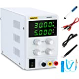 DC Power Supply Variable (30V 5A), Adjustable Switching Regulated Power Supply with 4 Read Out, Course & Fine Adjustments, Al