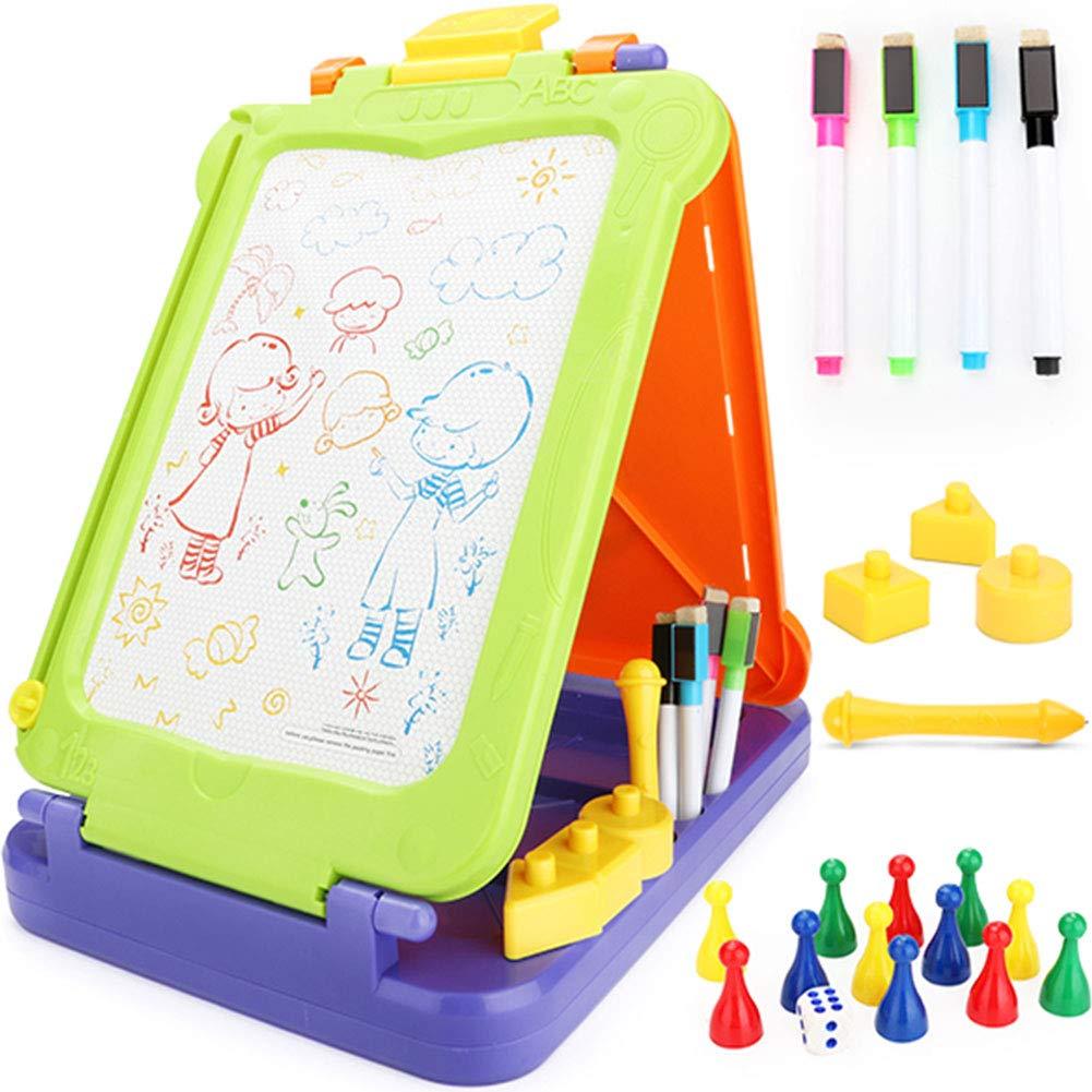 nero Temptation Tre Lati Tavolo da Disegno Magnetico,Scrittoio,Doodle Board Bambini per l'apprendimento