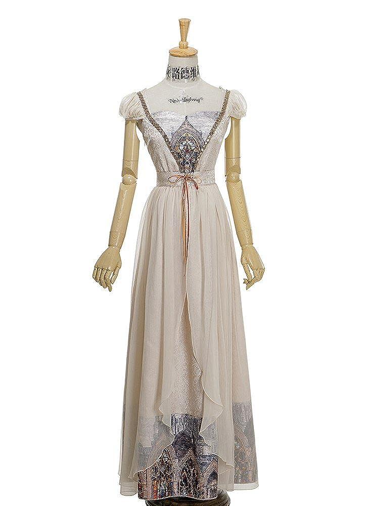 Champagne Fanplusfriend Regency Maxi Dress Empire High Waist JSK + Skirt Piece