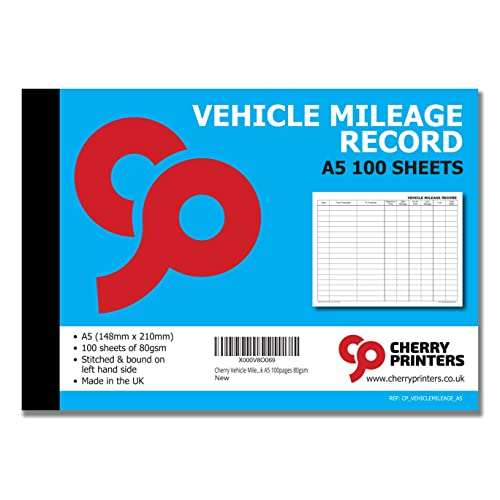 mileage log book amazon co uk