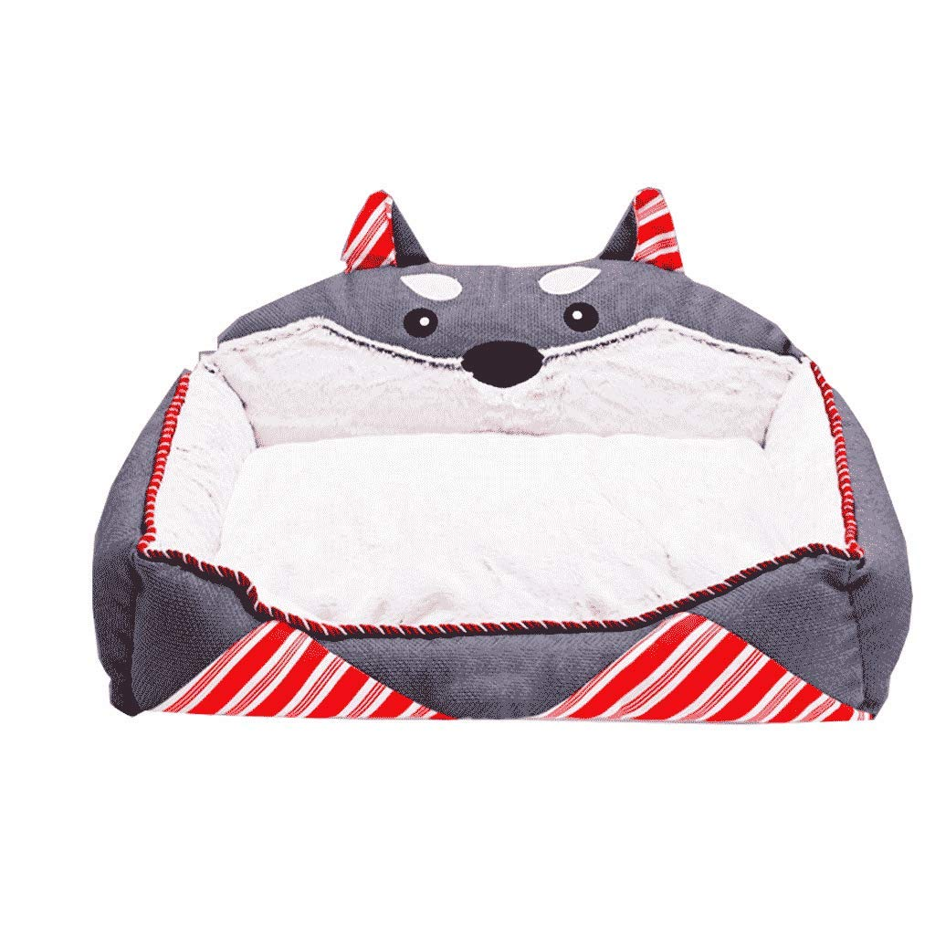 Large Pet bed Kennel Small Medium-sized Dog Wash And Wash Four Seasons General Teddy Winter Warm Dog WHLONG (Size   L)