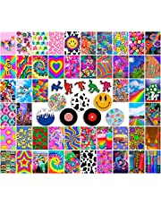 ANERZA Indie Room Decor for Bedroom Aesthetic, Wall Collage Kit Aesthetic Pictures, Posters for Room Aesthetic, Cute Photo Wall Decorations for Teen Girls, Y2k Kidcore Hippie Trippy Grunge (62 pcs)