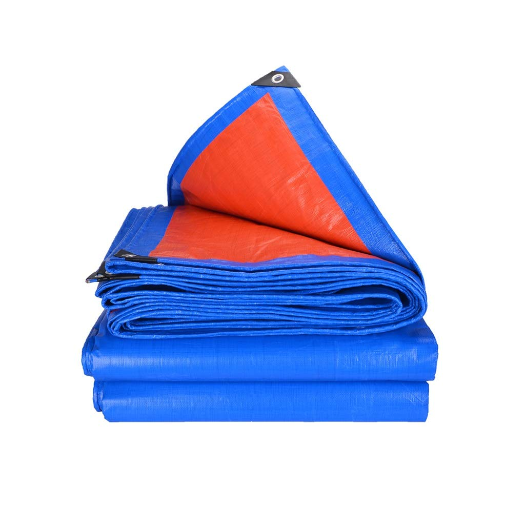 LGQ-HW Tela Impermeabilizzata Antipioggia Addensata, Panno Impermeabile Dell'ombra della Costruzione del Tessuto del PVC della Protezione Solare Esterna (Dimensioni   5  10m)