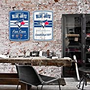 Toronto Blue Jays 16x23 2 Pack Established Faux Wood Wall Signs