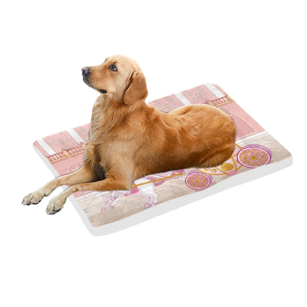42\ your-fantasia Beautiful Fairytale Pink Carriage Pet Bed Dog Bed Pet Pad 42 x 26 inches