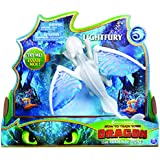 Dreamworks Dragons, Lightfury Deluxe Dragon with Lights & Sounds, for Kids Aged 4 & Up