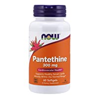 NOW Supplements, Pantethine (Coenzyme A Precursor) 300 mg, Cardiovascular Health*, 60 Softgels