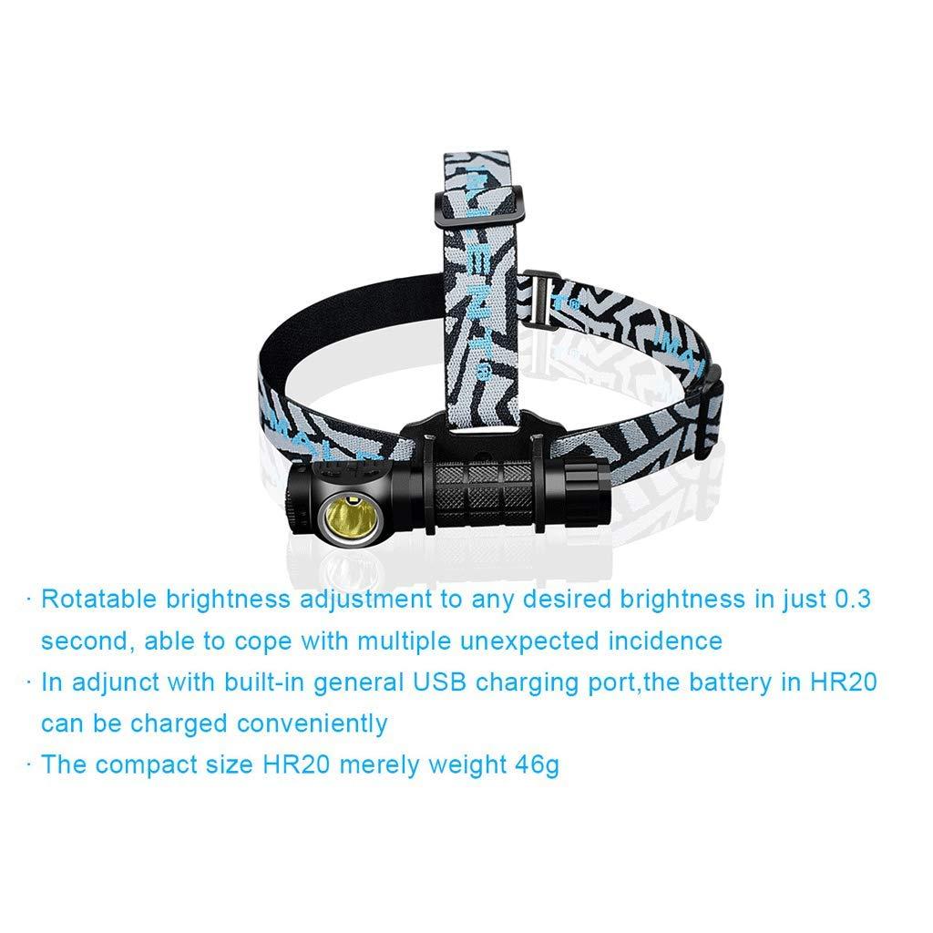 ZNND Angeln Lampe, Nachtlicht Nachtlicht Nachtlicht Suchscheinwerfer Scheinwerfer Blendung LED Lithium Batterie Außenscheinwerfer Wasserdichte Jagd USB 1000LM Taschenlampe B07H6JJKRC Stirnlampen Verwendet in der Haltbarkeit 60efd0