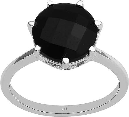 anello con pietra nera donna