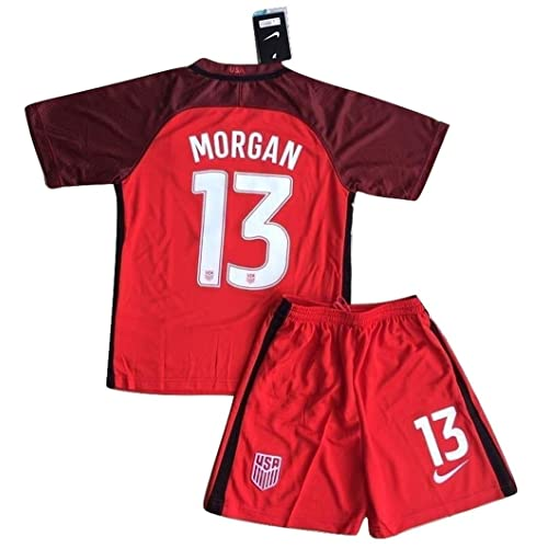 2017-2018 Alex Morgan #13 New USA National 3rd Jersey and Shorts for Kids