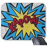 Mousepad Black Dot's / Kapow! Cartoon Painting Print Non-Slip Mouse Mat