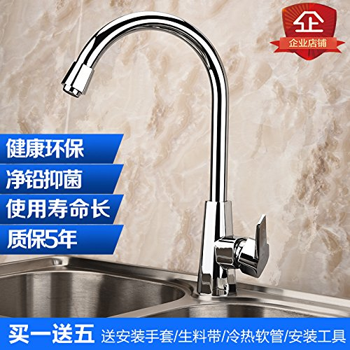 C08 Hlluya Professional Sink Mixer Tap Kitchen Faucet Ji to dish washing basin sink hot and cold faucet single handle 304 stainless steel hotel anti-base water faucet kitchen,C17